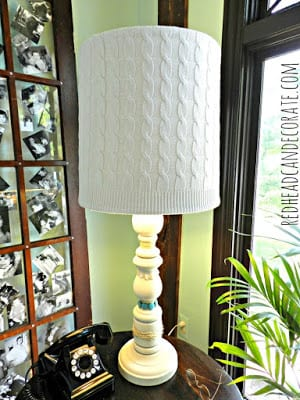 Old Sweater Lampshade | Redhead Can Decorate