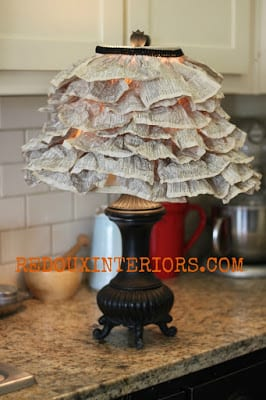 DIY Book Page Lampshade | Redoux Interiors
