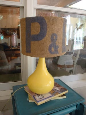 Potato Sack Lampshade | A Little Piece of Heaven