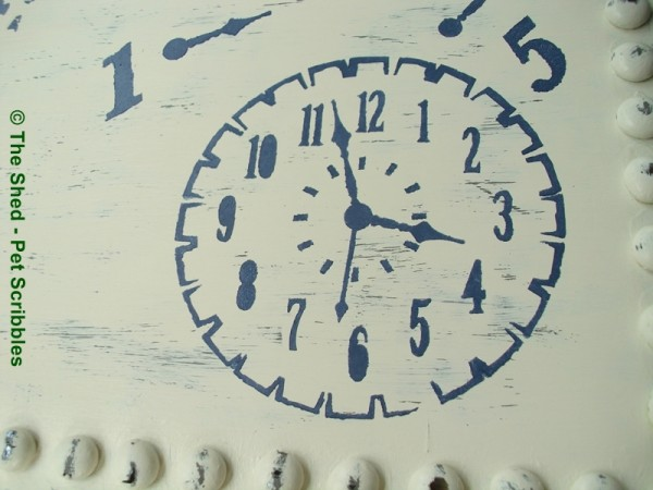"These numbers and this clockface are part of the ""Timeless Treasures"" Americana Mixed Media Stencils."