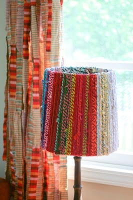 Colorful Rope Lampshade | Blog A La Cart