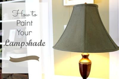DIY Painted Lampshade | The Creek Line House