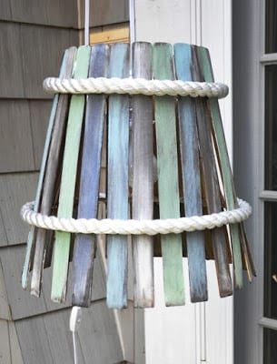 DIY Paint Stir Lampshade | Serendipity Refined