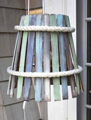 DIY Paint Stir Lampshade | Serendipity Refined
