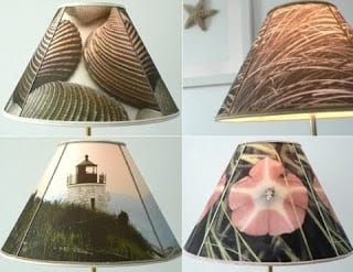 DIY Photo to Fabric Transfer Lampshade | Completely Coastal