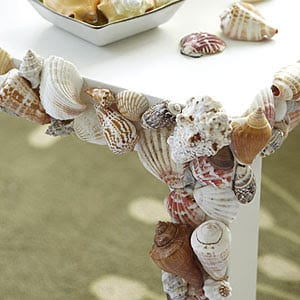 Table with Shell Accents | DIY from All You magazine website