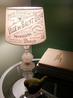 French Vintage Graphic Lampshade made with a Sharpie | Young Wifey's Blog