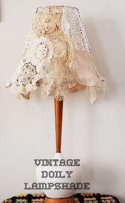 DIY Vintage Doily Lampshade | Maize Hutton