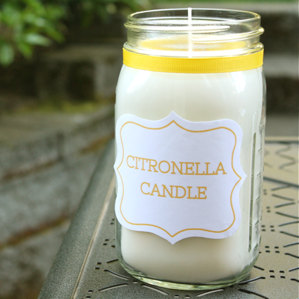 DIY Citronella Soy Candle | Yesterday on Tuesday