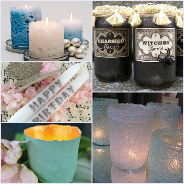 14 Unique Candles and Candle Holder DIYs | The Shed - Pet Scribbles