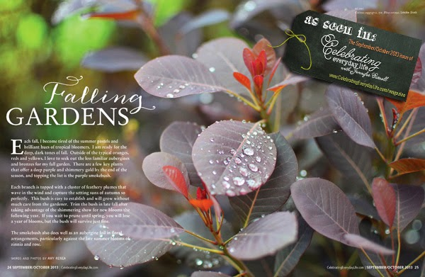 """Falling Gardens"" is just one of the inspiring garden articles in the fall issue of Celebrating Everyday Life with Jennifer Carroll."