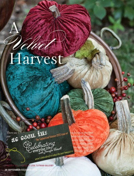 "Make your own ""velvet harvest"" with the easy how-to's in Celebrating Everyday Life's Fall issue."