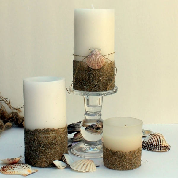 Easy DIY Beachy Candles | The V Spot