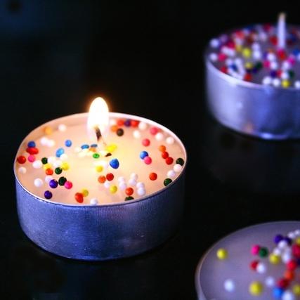 DIY Birthday Cake Tea Candles | Food and Femininity
