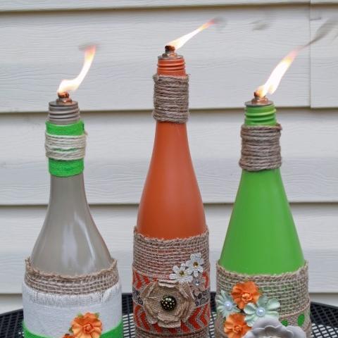 DIY Wine Bottle Wicks | Glitter, Glue and Paint