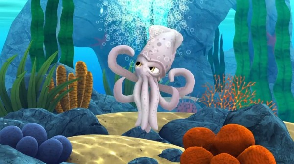 Alphie the Squid is a game for iPhones, iPads, and Android devices.