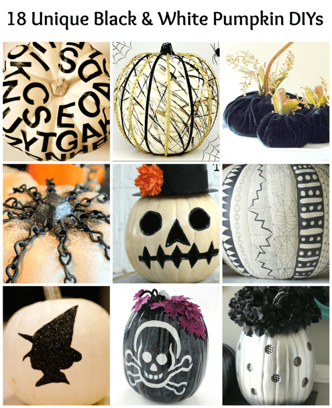 Black and White Pumpkins: 18 Stunning DIYs from some amazingly crafty bloggers!