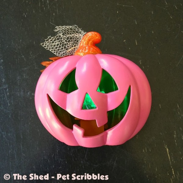 Pink Jack-o-Lantern DIY finished in about an hour!