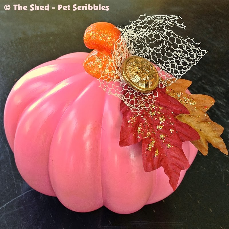 Dollar Store Pumpkin Makeover