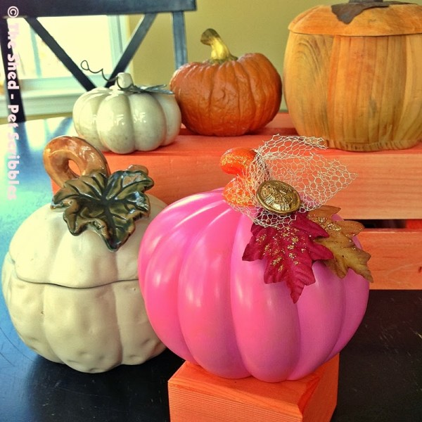 Dollar Store Pumpkin Makeover: turning a Halloween decoration into a bit of Fall home decor you can enjoy all season long!