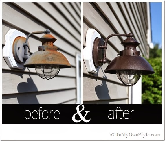 Transform Outdoor Light Fixtures blog post by Diane from In My Own Style
