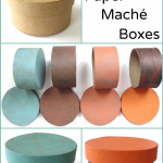 How to Paint Paper Maché Boxes: 4 examples!