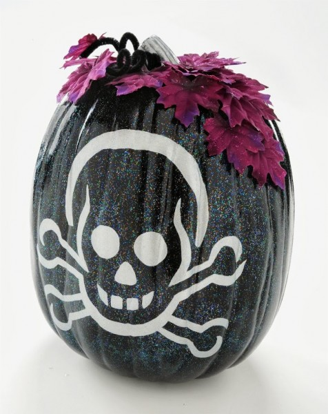 Sparkle Skeleton Pumpkin Tutorial | Mod Podge Rocks