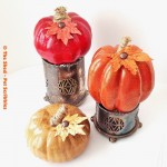 Tone on Tone Glitter Pumpkins DIY