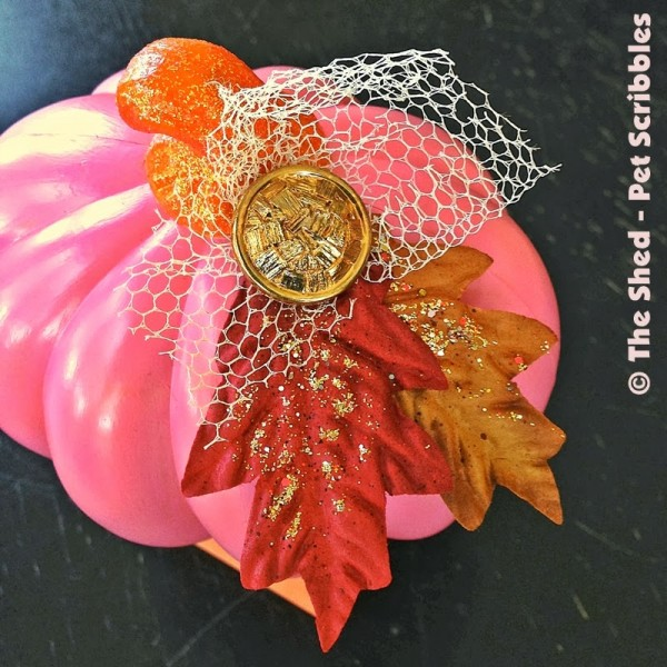 Dollar Store Pumpkin Makeover using supplies from your craft stash!