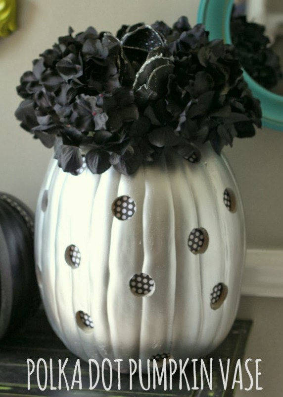 Polka Dot Pumpkin Vase