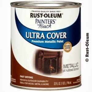 Rust-Oleum Painters Touch oil rubbed bronze paint - you can find it just about anywhere!