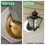 Ugly Light Fixture Makeover!