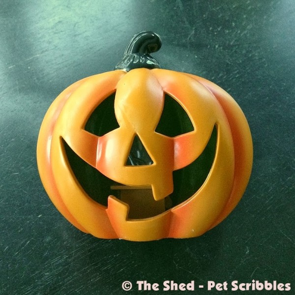 This plastic dollar store pumpkin was in serious need of a makeover!