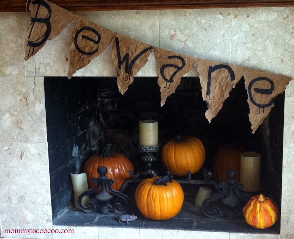 Halloween Banner DIY - Beware - from Mommy is Coocoo