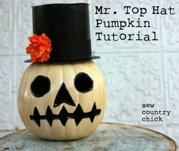 Mr. Top Hat Pumpkin Tutorial | Sew Country Chick