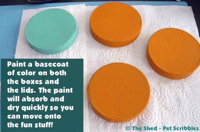 How to Paint Paper Maché Boxes and lids, no matter which shape or size you have.