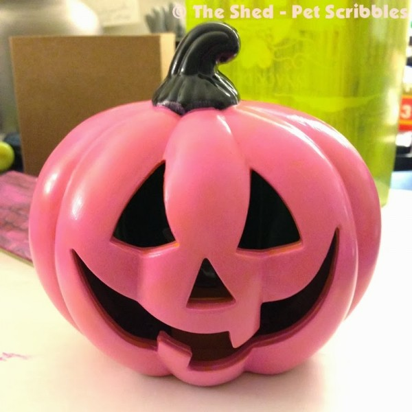 A little paint can do wonders on dollar store Halloween decorations!