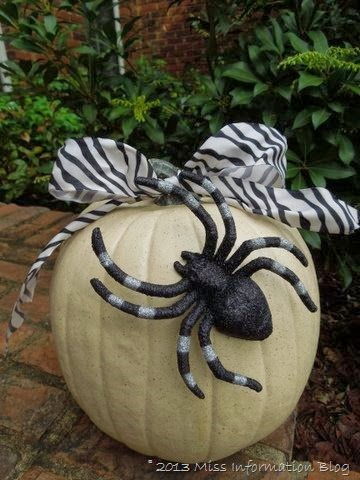 Black and White No-Carve Pumpkin | Miss Information