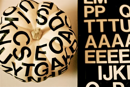 typography pumpkin