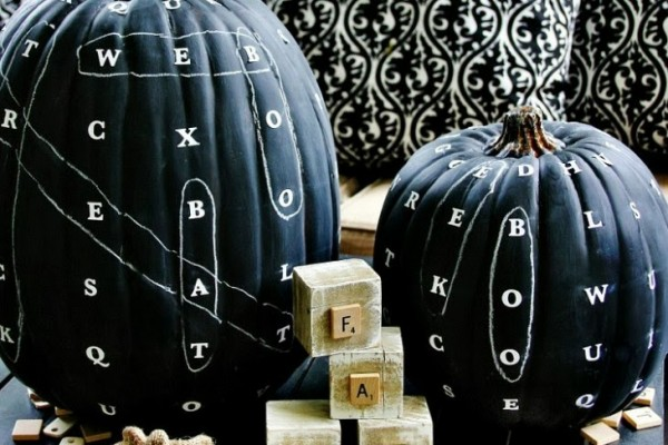 Chalkboard Word Find Pumpkin DIY | Thistlewood Farms