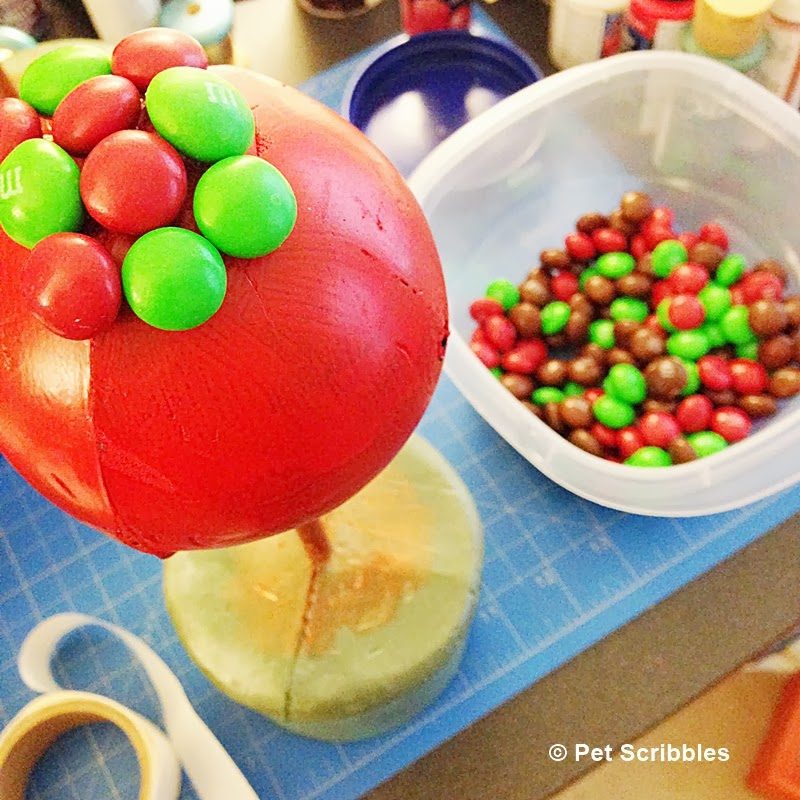 Gingerbread M&M Topiary craft