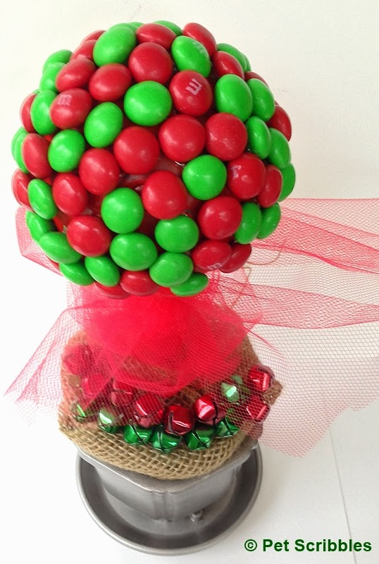 Gingerbread M&Ms on Topiary Craft