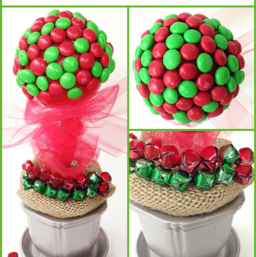 Gingerbread M&Ms Topiary Craft