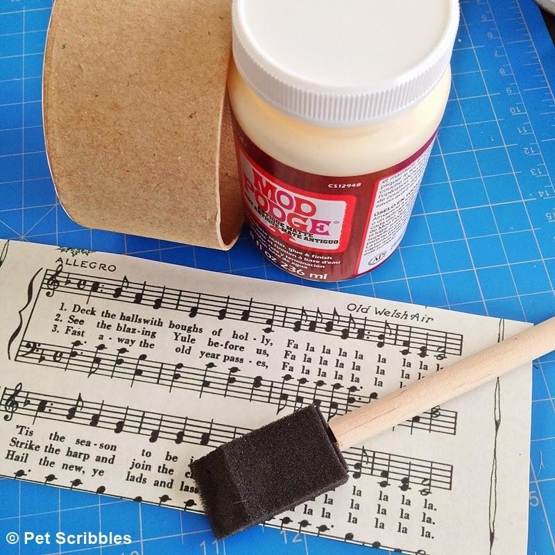 Mod Podge Antique Matte and vintage sheet music