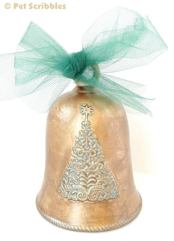 Christmas Ornament Makeover with Liquid Gilding and Metallic Glazes