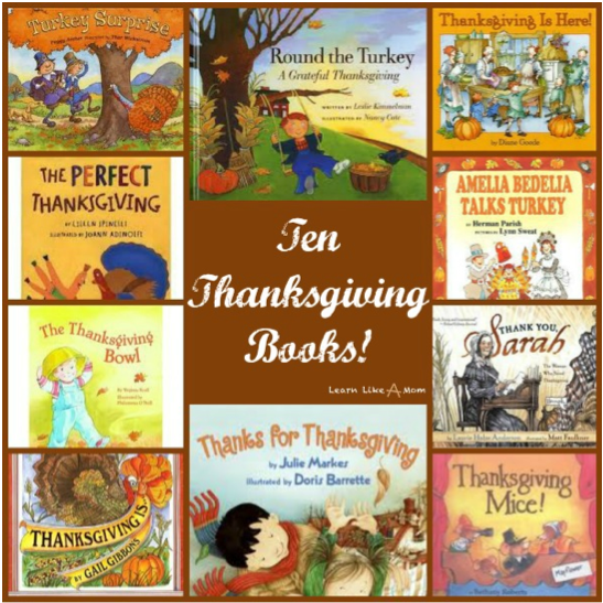 10 Great Thanksgiving Children's Books! (via Mom Endeavors)