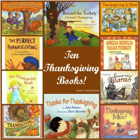 10 Great Thanksgiving Children's Books! (via Mom Endeavors)
