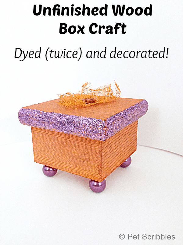 dyed and glittered wood box