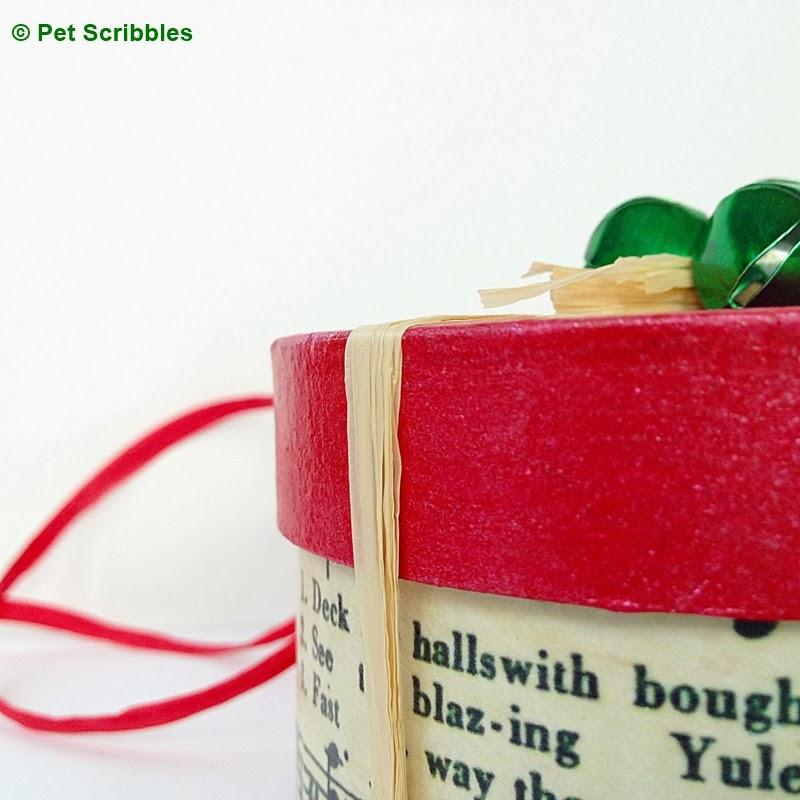 DIY Holiday Gift Box close up