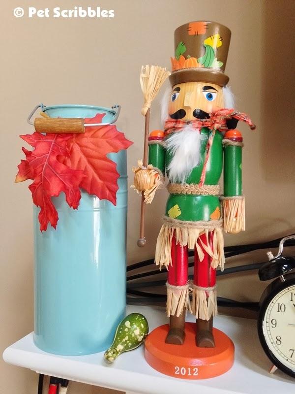 A Fall nutcracker decoration
